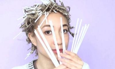 uvijanje kose sa slamkama