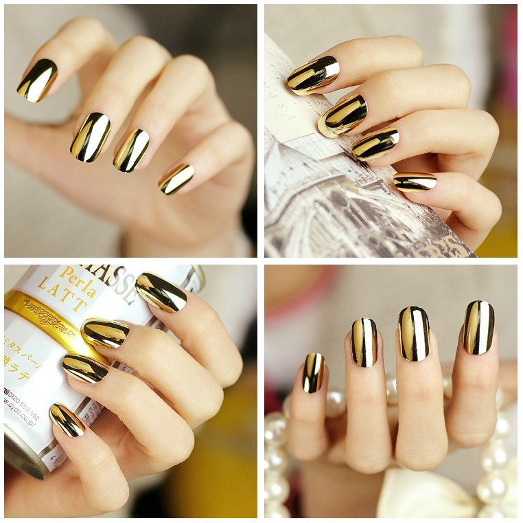 sexy-punk-70-pcs-punk-false-nail-mirror-metal-metallic-golden-silver-full-cover-fake-nail