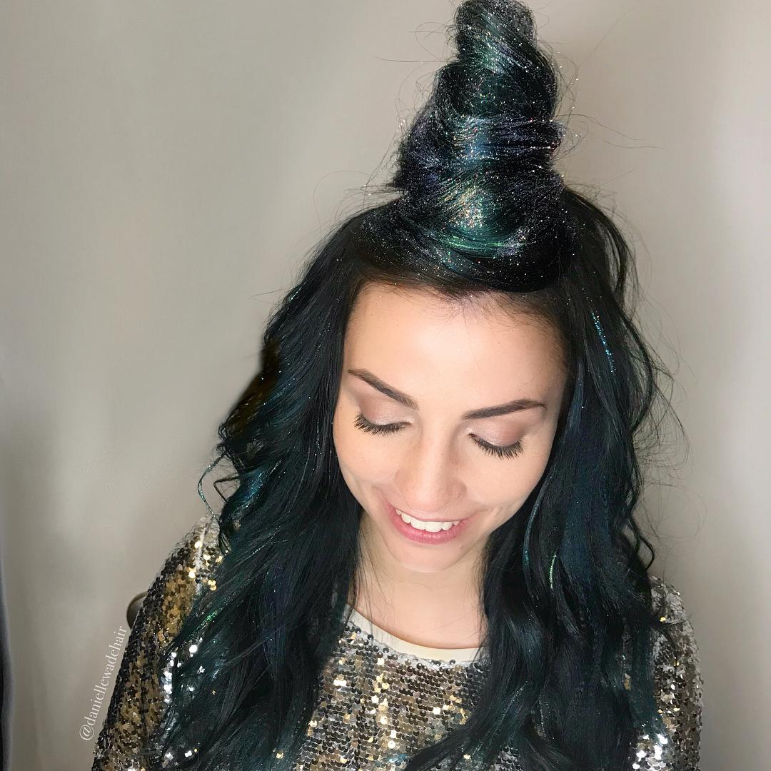 ženske frizure sa šljokicama (3)