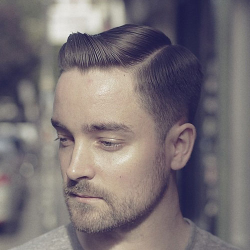 Hard-Side-Part-Tapered-Sides-Beard