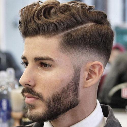 Wavy-Pompadour-Mid-Fade-Full-Beard