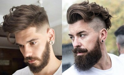 Curly-Undercut-With-Beard-Hairstyle-For-Men