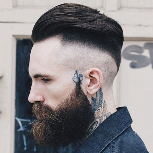 Razor-Undercut-Fade-Slicked-Back-Hair-Thick-Beard