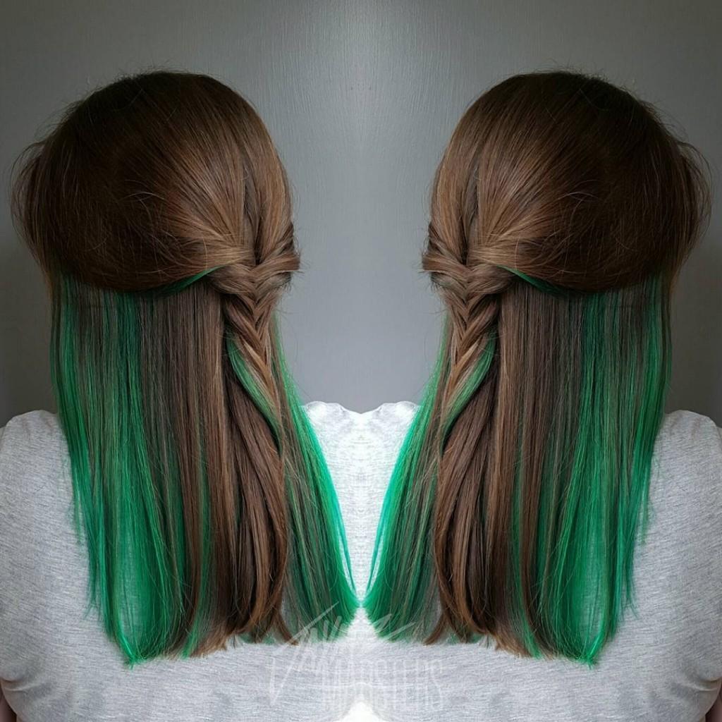 19-brown-hair-with-green-peekaboo-highlights