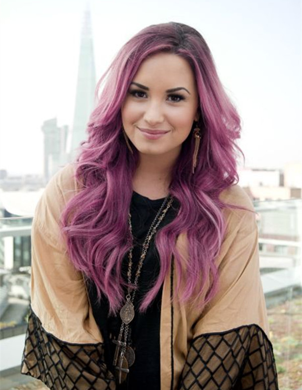 Purple-ombre-balayage-hairstyle-for-dark-hair-color-elegent-style-for-2015-summer