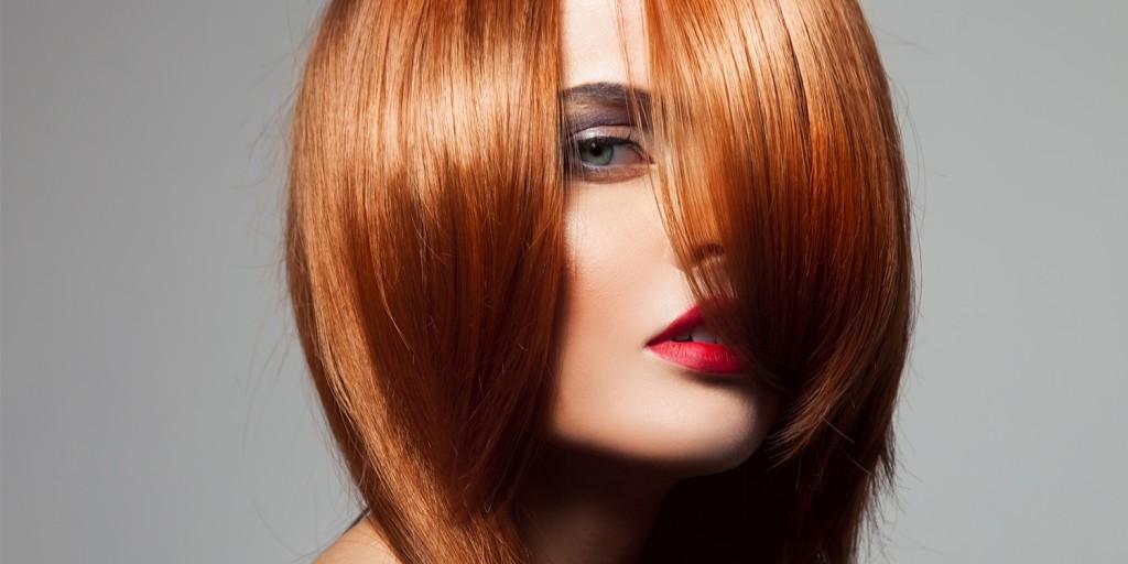 metallic red hair