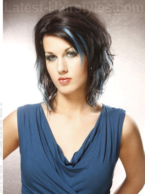 peek-a-blues-brunette-style-with-blue-highlights-style-for-a-round-face