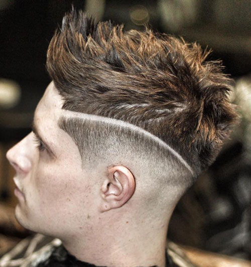 High-Fade-with-Hard-Part-and-Quiff
