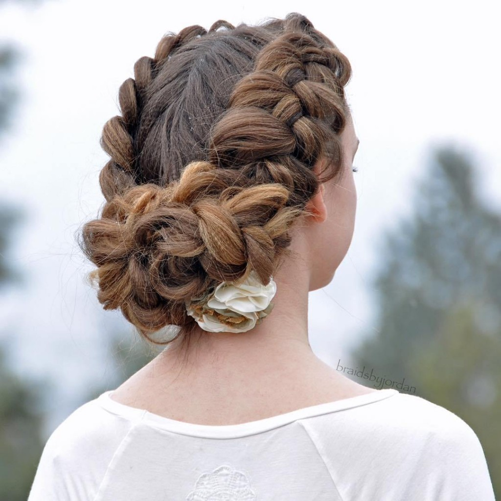 4-braided-crown-with-a-bun-updo