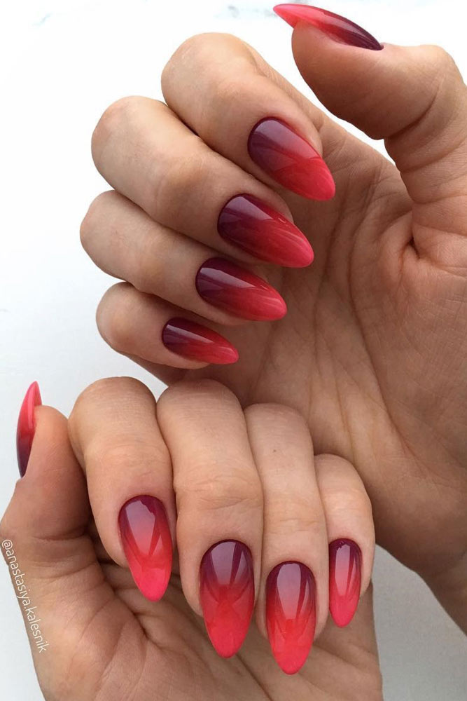 Hot-Red-Ombre-Nails-For-A-Romantic-Evening