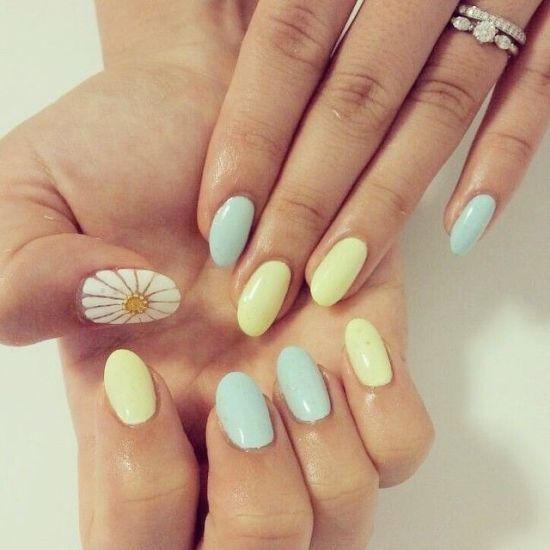 2016-fall-pastel-nails-with-white-accent-nail
