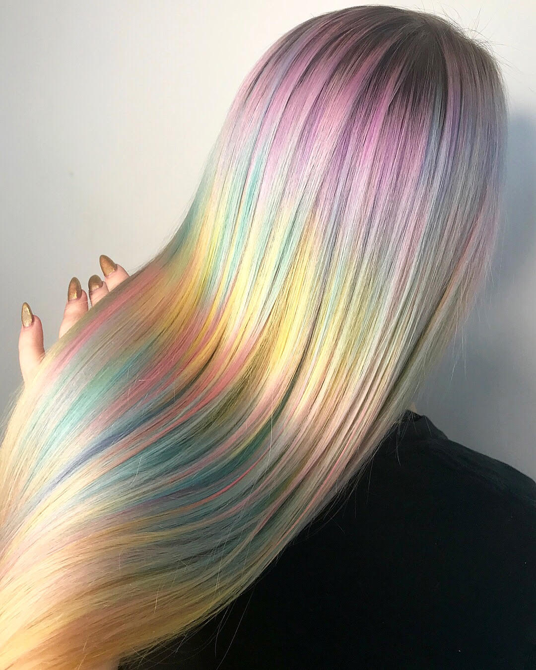 rainbow pastel hair 1